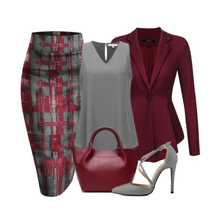 A beautiful combination of burgundy and mint featuring a Hybrid and Company printed pencil skirt, an ACEVOG peplum blazer Jacket, A Regina X v-neck blouse, a genuine leather trapeze luxury handbag and a pointy toe cross strap stiletto completes a great look.