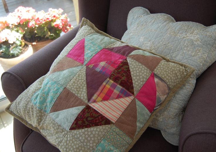 my first patchwork pillow
