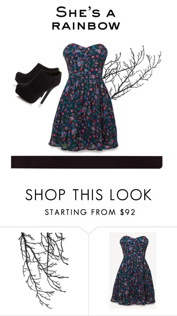 """""""She's a rainbow"""" by ohaysh ❤ liked on Polyvore featuring ferm LIVING, Jack Wills and Head Over Heels by Dune"""