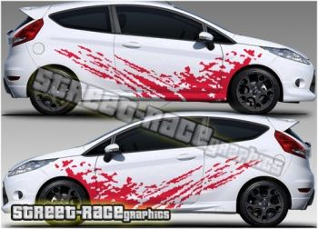 Ford Fiesta racing mud splatter graphics from www.street-race.org