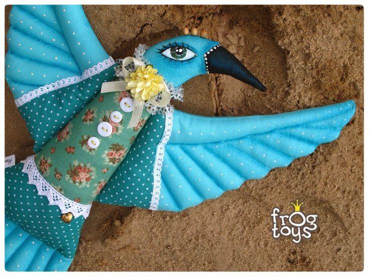 творческая мастерская Царевны Лягушки: Текстильная птичка в почти морском стиле