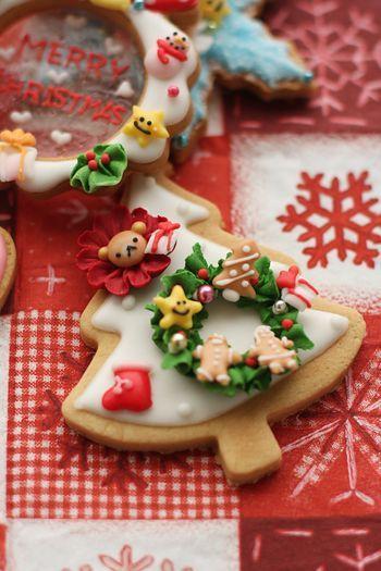 お子様用クリスマスのアイシングクッキー : coupe-feti