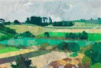 Green landscape Bornholm by Olaf Rude