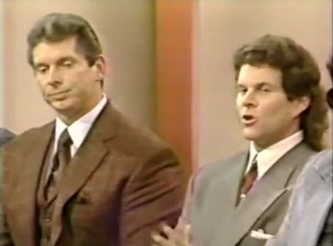 WWE founder and chairman Vincent McMahon Jr. faces allegations of covering up for a pedophile ring running within the company on an episode of the Donahue Show in the 1990s.