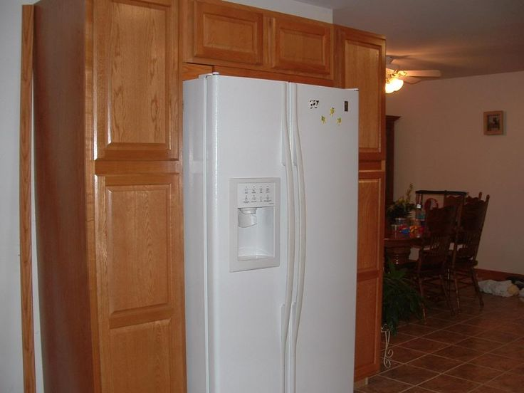 Cabinets Build Around A White Refrigerator Dont Like The
