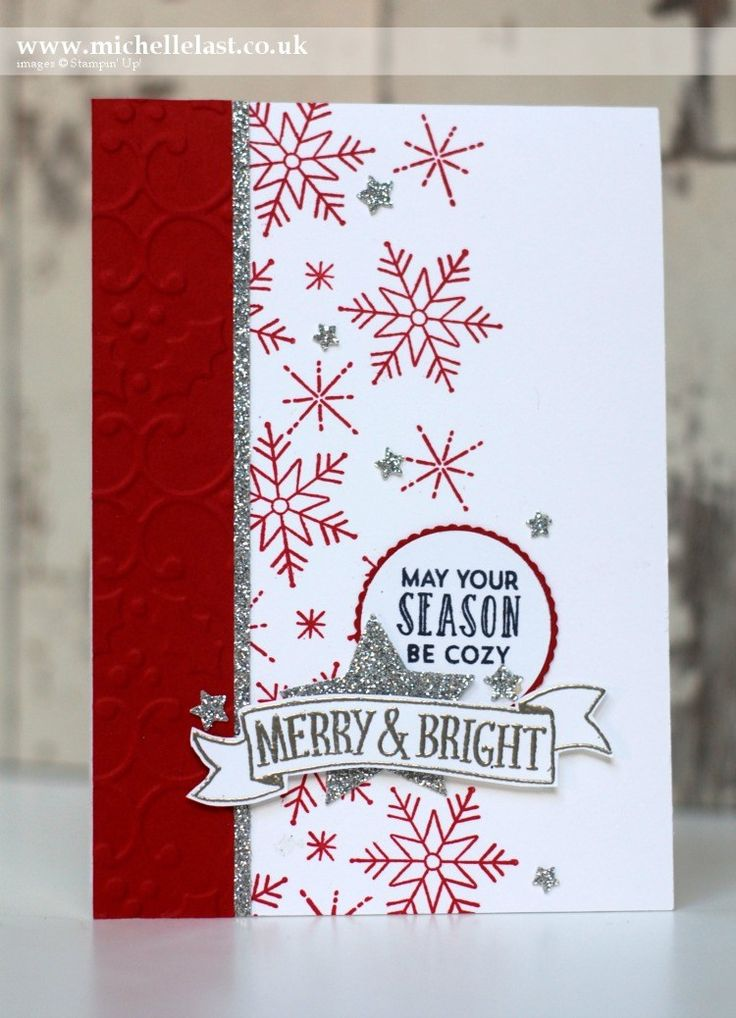 Christmas Card using Stitched with Cheer from Stampin Up - with Michelle Last