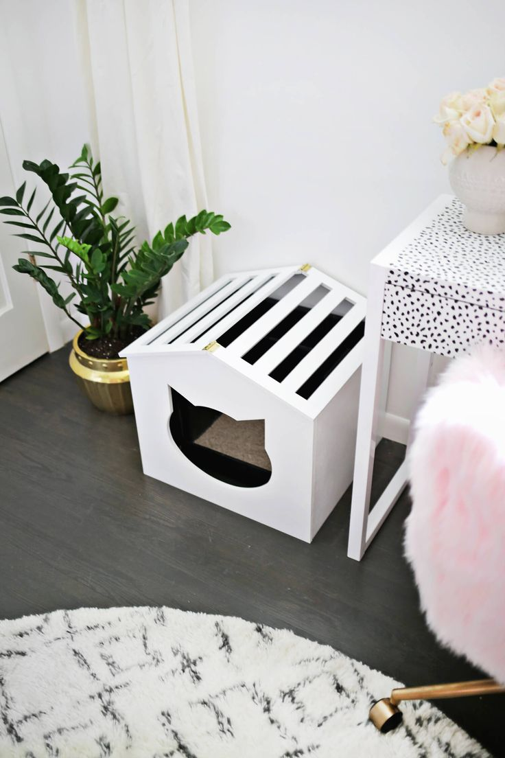 DIY Litter Box Cover Tap the link for an awesome selection cat and kitten products for your feline companion!