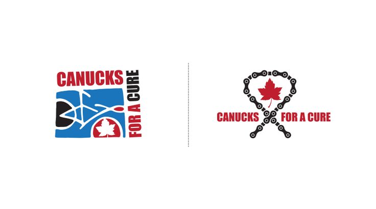 CANUCKS FOR A CURE > LOGO DESIGN | Graphic Design by Kelly Skinner of Friday Design + Photography.