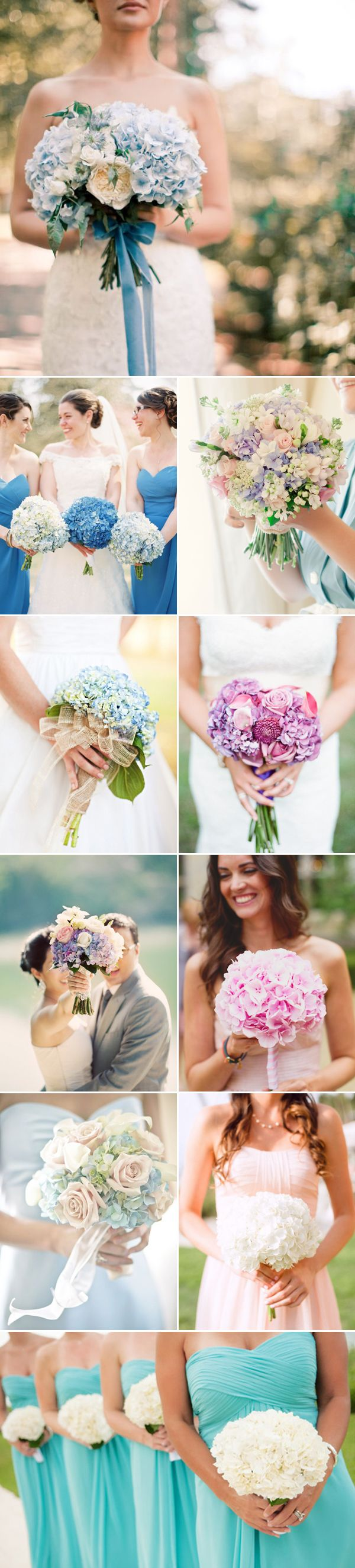 hydrangea wedding ideas - hydrangea wedding bouquet / http://www.deerpearlflowers.com/72-unique-and-gorgeous-ideas-for-wedding-bouquets/