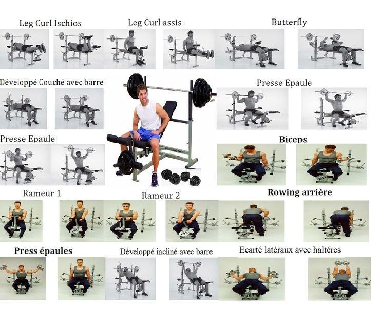 Flexoring body power barre de traction easy curves flex shaper gym door banc body works - Exercice de musculation avec banc ...