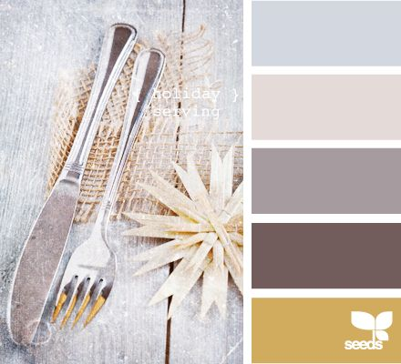 holiday serving. I like the gray and taupe with the others as accents. {kem}