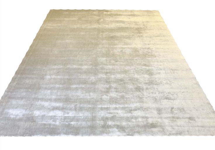 HOPPEN SILK CARPET, 305cm x 244cm, silver grey fie…