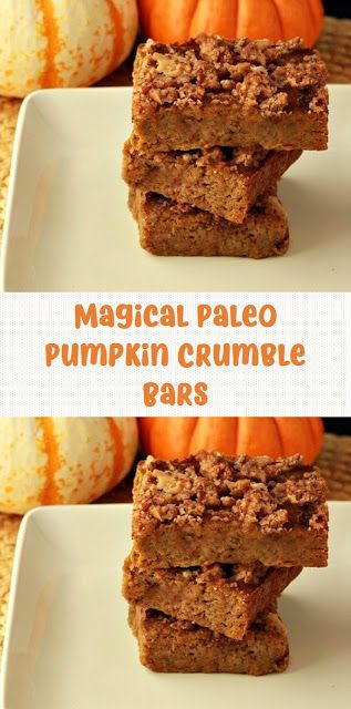 Magical Paleo Pumpkin Crumble Bars