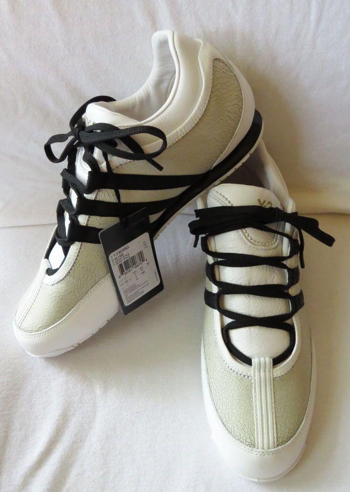 NIB Y3 YOHJI YAMAMOTO Adidas Crackled Gold Leather Boxing Sport Shoes 7  #YohjiYamamoto