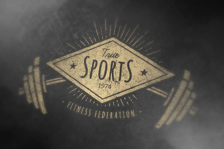 Retro Gym   Logo Templates by Vecster on @creativemarket