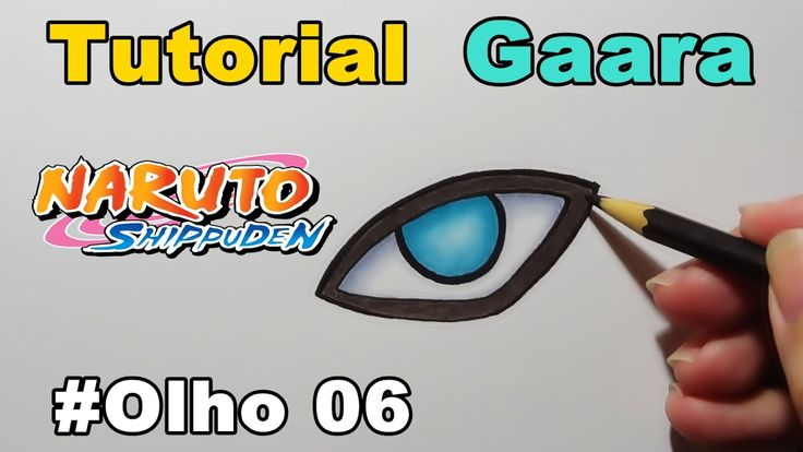 Como Desenhar Olho do Gaara - Naruto Shipuden - How to Draw Eye of Gaara