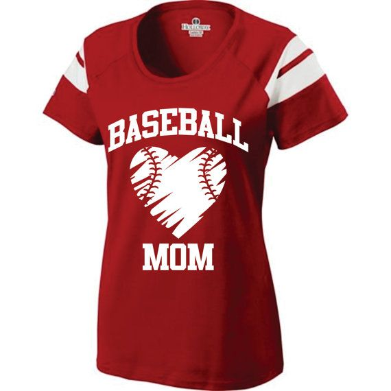 Short Sleeve  Screen Printed  Baseball Mom T Shirt on Etsy   27 00