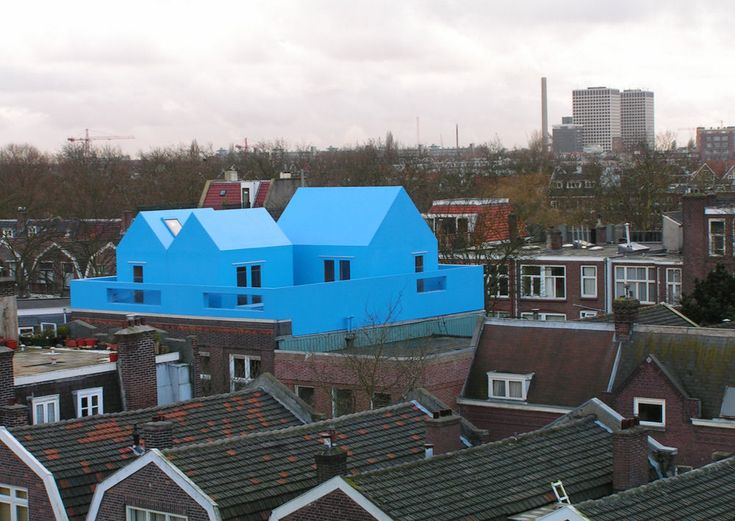 Private rooftop house extension MVRDV Architects