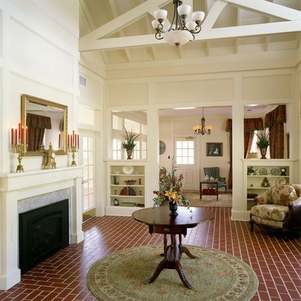 Great Way To Divide Rooms Tall Columns Bookcases And