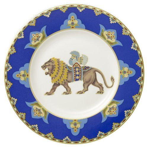 samarkand cobalt blue salad plate lion by villeroy boch bone china. Black Bedroom Furniture Sets. Home Design Ideas