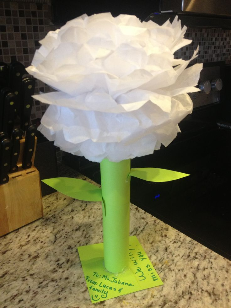 78 best tissue paper flower images on pinterest for Crafts made out of paper towel rolls