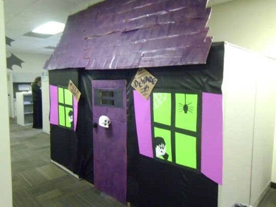 14 best Kevin images on Pinterest Bookcases, Halloween cubicle and - office halloween decorating ideas