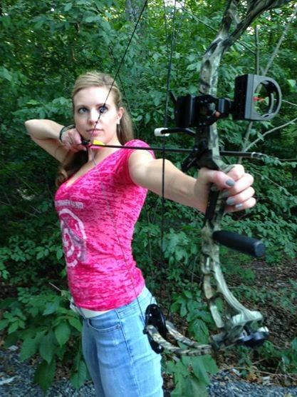 Stephanie Spike with her PSE bow...  #girlswhoshoot #PSE #archery
