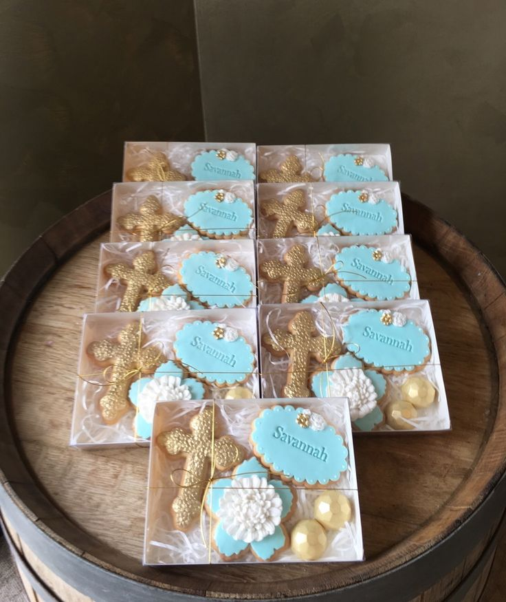 Deluxe Cookie Bomboniere for a Communion.