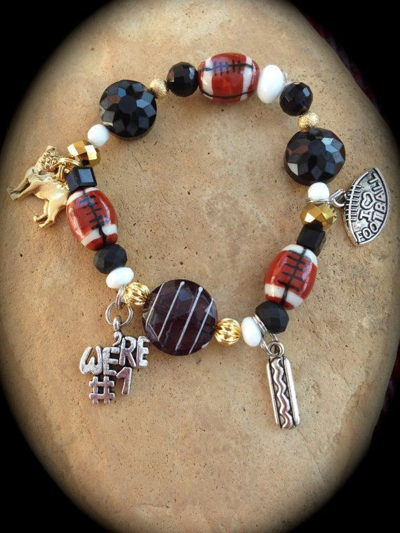 FOOTBALL BRACELETS Your Football Team Colors by WhimsicalMystical