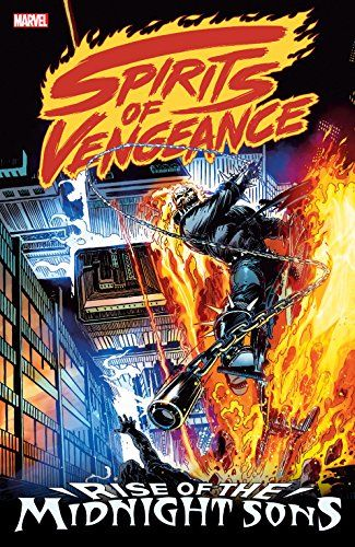 Spirits of Vengeance: Rise of the Midnight Sons (Ghost Rider/Blaze: Spirits of Vengeance (1992-1994)):   Collects Ghost Rider (1990) #28, 31; Ghost Rider/Blaze: Spirits of Vengeance #1-6; Morbius: the Living Vampire (1992) #1; Darkhold: Pages From the Book of Sins #1; Nightstalkers #1; Web of Spider-Man (1985) #95-96 and material from Midnight Sons Unlimited #1.<br /><br />Johnny Blaze and Dan Ketch race side by side as the Spirits of Vengeance as Marvel's Midnight Sons rise to face a ...