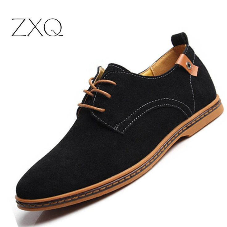 Plus Size 38-48 Classical New Fashion Men Cowhide Leather Low Top Flat Oxford Shoes For Male Zapatos Mens Shoes Casual
