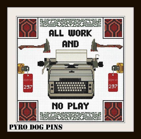 The Shining Typewriter Pattern/PDF The Shining by PyroDogPins, £3.00