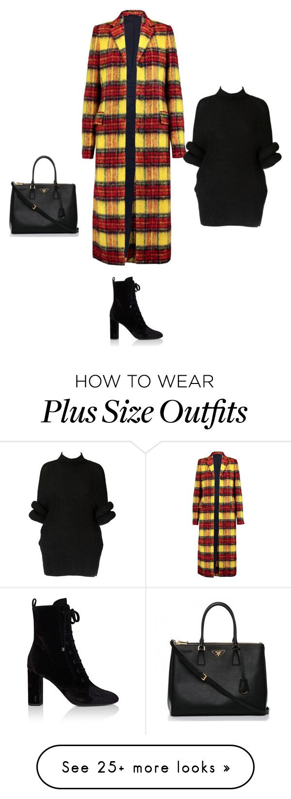 """Untitled #20884"" by explorer-14576312872 on Polyvore featuring Acne Studios, Yves Saint Laurent and Prada"