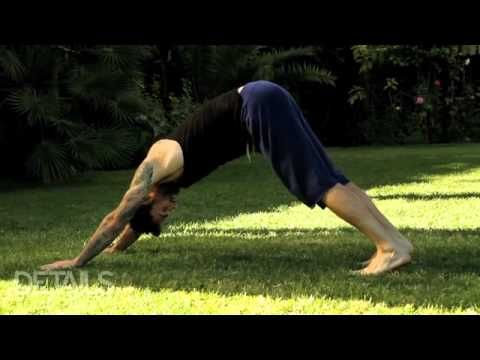 Adam Levine does yoga- and well too...Impressed. *Details magazine video.  ~GirlNesting