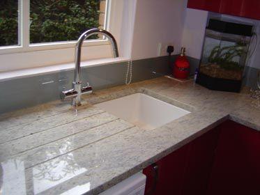 Kashmire White Granite Kitchen Worktops - Project Galleries
