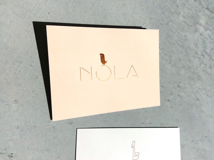 BIRTH CARD 'Nola': recto foil stamping / verso: letterpress / by www.missmoss.be