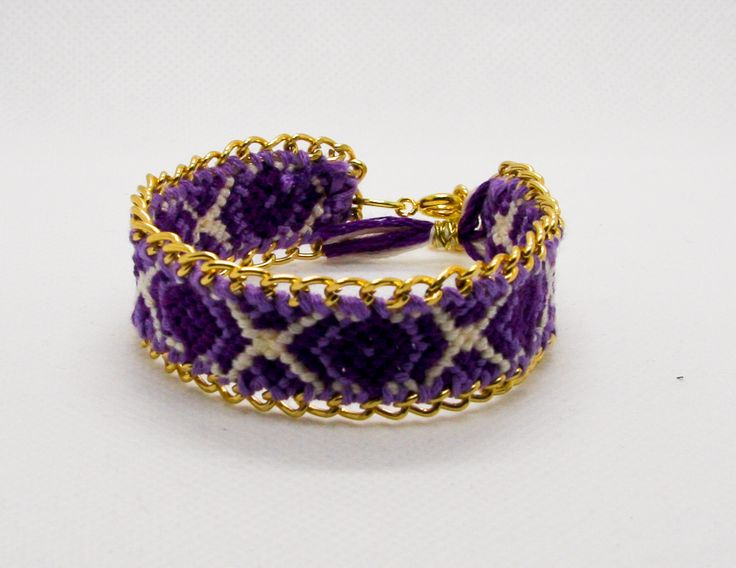 TiffyDesigns custom friendship bracelet. Choose your colours and chain $30. http://www.tiffydesigns.com #friendshipbracelet #bracelet #boho #pridejewelry #bohochic #bohemian