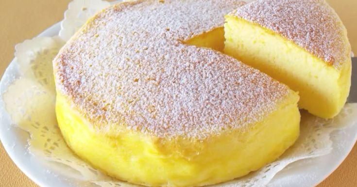Tre ingredienser er alt, der skal til for at lave denne fine, japanske cheesecake, som har taget nettet med storm.