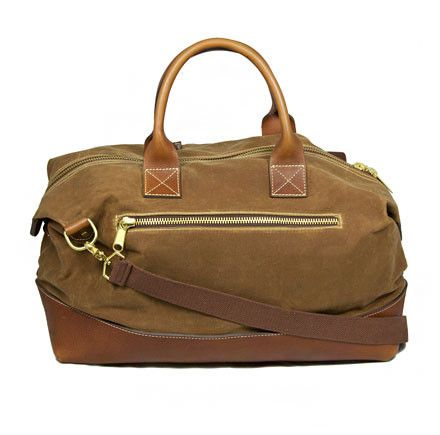 Blue Claw Co. | Ezeiza Weekender (British Tan). $375.  Sturdy waxed canvas and leather weekend bag.  -KB