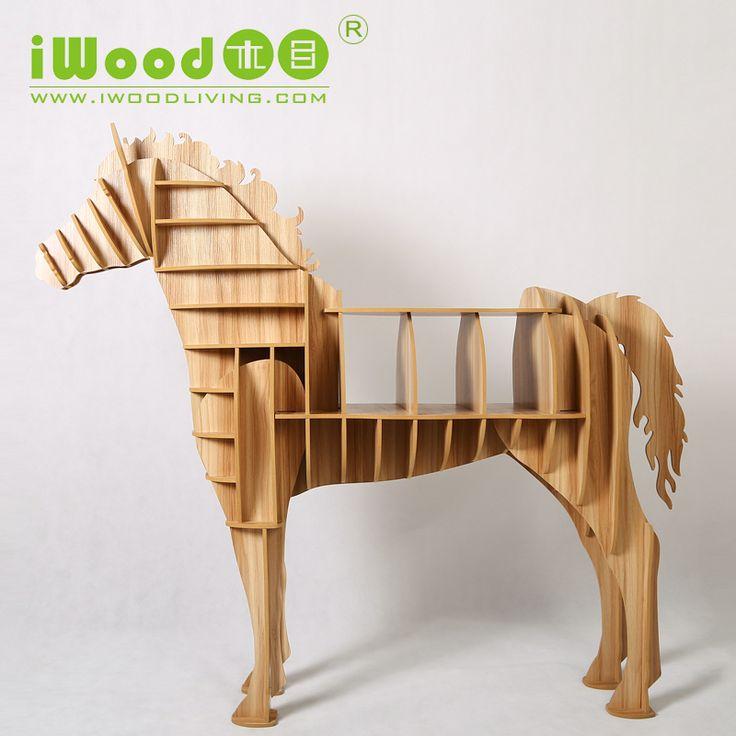 Encontrar Más Mesas de Café Información acerca de 9 mm MDF forma del caballo de mesa de la sala de arte muebles, alta calidad muebles etc, China art deco muebles de jardín Proveedores, barato organizadores muebles de iWood Factory en Aliexpress.com