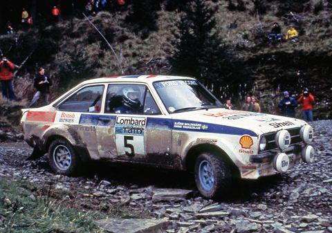 Ford Escort mark II works car. Bjorn Waldegård/ Hans Thorselius. RAC rally