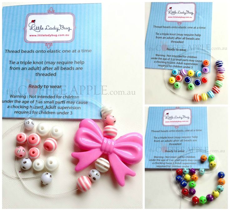 BRACELET THREADING SET $5.00 It takes a certainly amount of patience and hand eye coordination to tread the little beads onto the elastic......