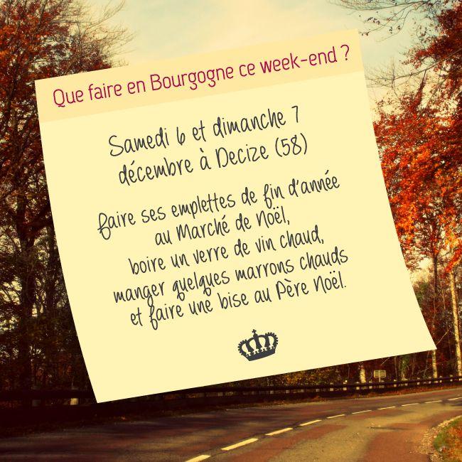 Notre sélection de sorties pour ce premier week end de décembre est en ligne ! #bourgogne