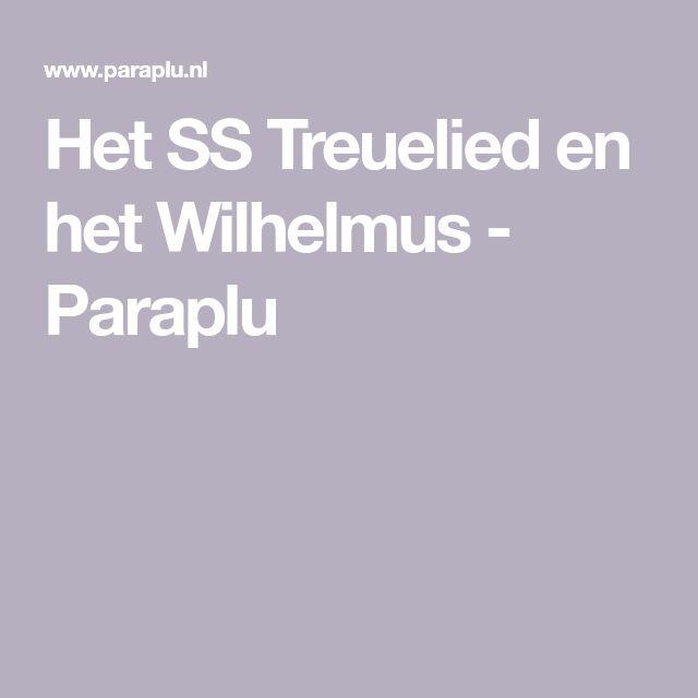 Ter gelegenheid van het 25 jarige regeringsjubileum van koningin Wilhelmina (Paulien de Ranitz) werd officieel vastgelegd dat het Wilhelmus vanaf 10 mei 1932 het Nederlandse volkslied werd. Het SS Treuelied en het Wilhelmus  hebben dezelfde melodie. Enige jaren  later in 1937 ontsloeg zij de dirigent dr. Peter van Anrooy  omdat  deze weigerde het Horst Wessel lied te spelen........