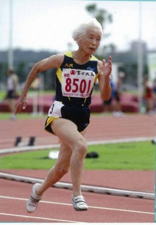 96-year old Grandma Morita Mitsu dreams of running to 100 years old.