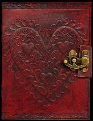 OH MY GOSH I LOVE THIS!! Leather Embossed Celtic Heart Journal