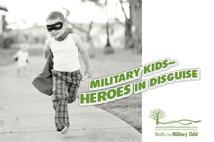 April is Month of the Military Child and we're celebrating our heroes! Visit www.operationwearehere.com for links to free certificates of appreciation, book lists for military children and teens, free tutoring opportunities, a listing of camps and retreats, and much more! #MOMC