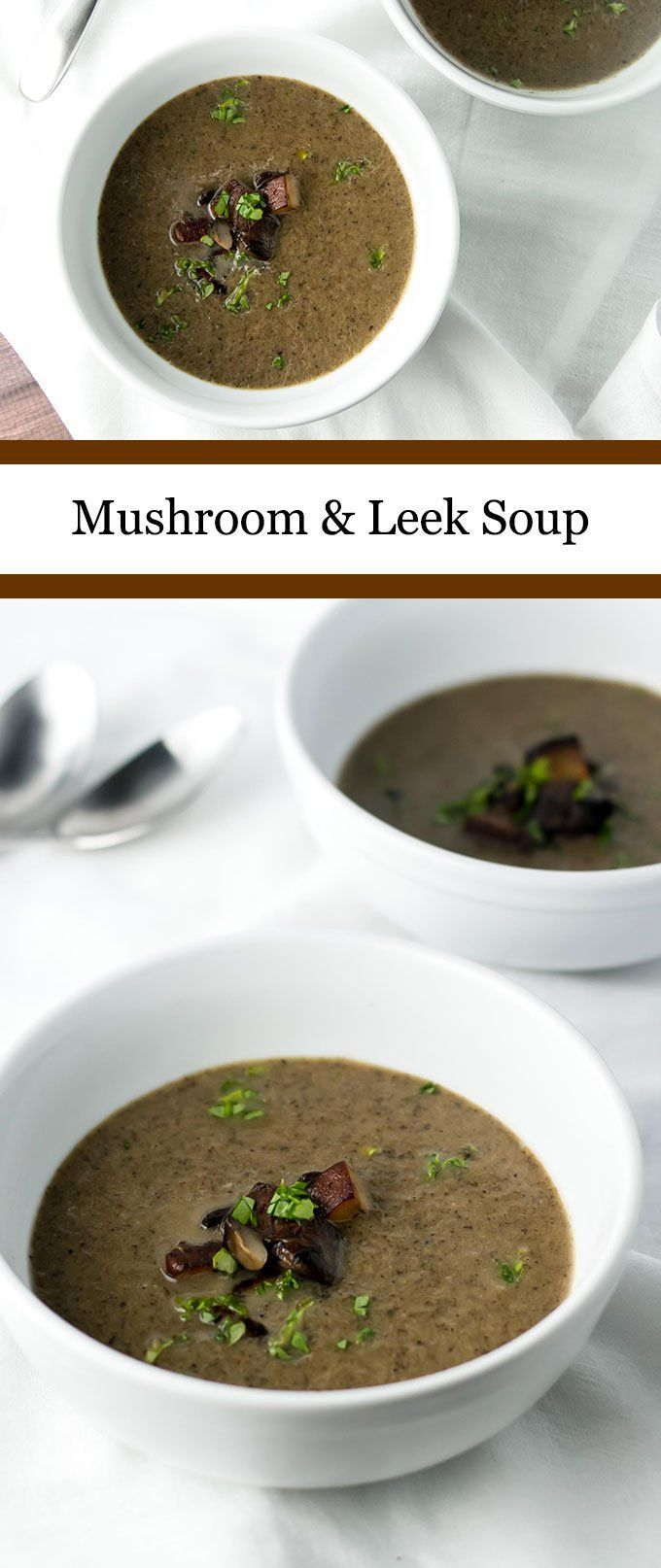Warm and cozy mushroom and leek soup | girlgonegourmet.com