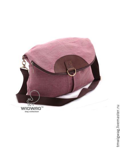 Женские сумки ручной работы. Ярмарка Мастеров - ручная работа. Купить Женская сумка-рюкзак из розово-лилового канваса и натуральной кожи. Handmade.