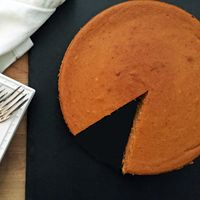 pumpkin cheesecake. You can make it and store covered in the fridge for up to a week, which is great for cooks who want to get ahead of all their cooking and baking. Alton Brown